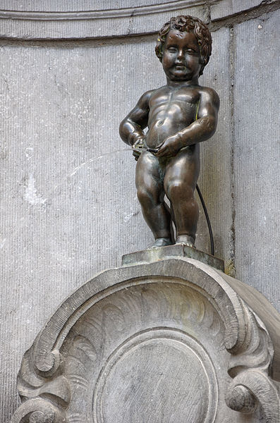 View of the statue of Manneken Pis, Brussels. Photo: Myrabella / Wikimedia Commons / CC BY-SA 3.0